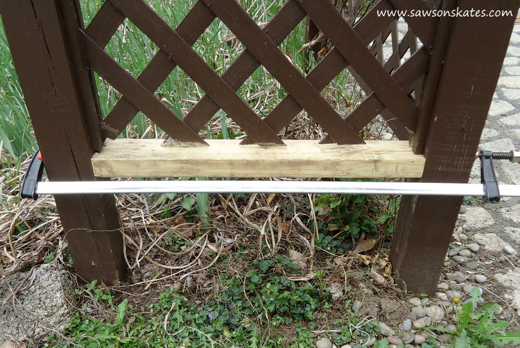 DIY Privacy Fence new rail