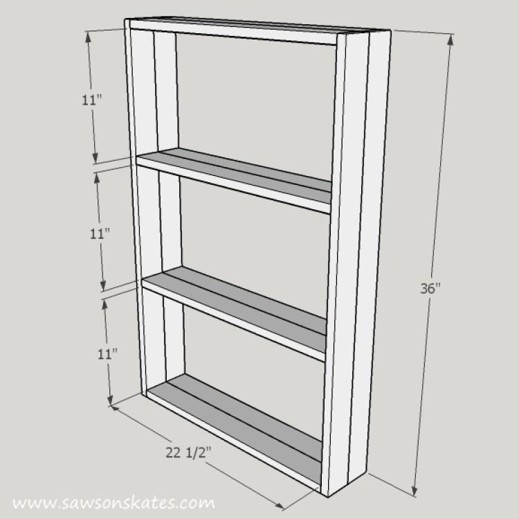 chalkboard shelf dimensions
