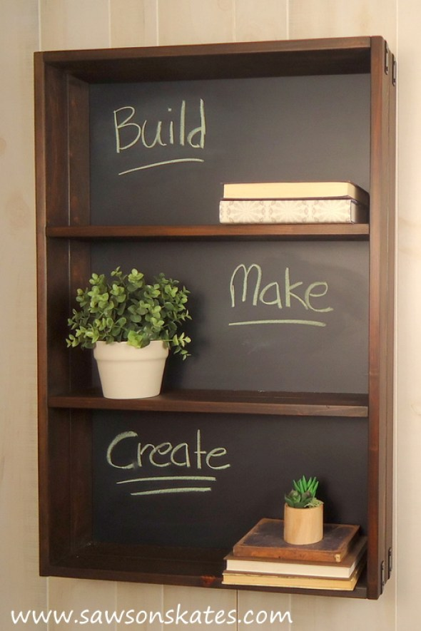diy chalkboard shelf 5