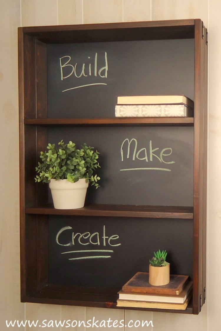 diy chalkboard shelf 5