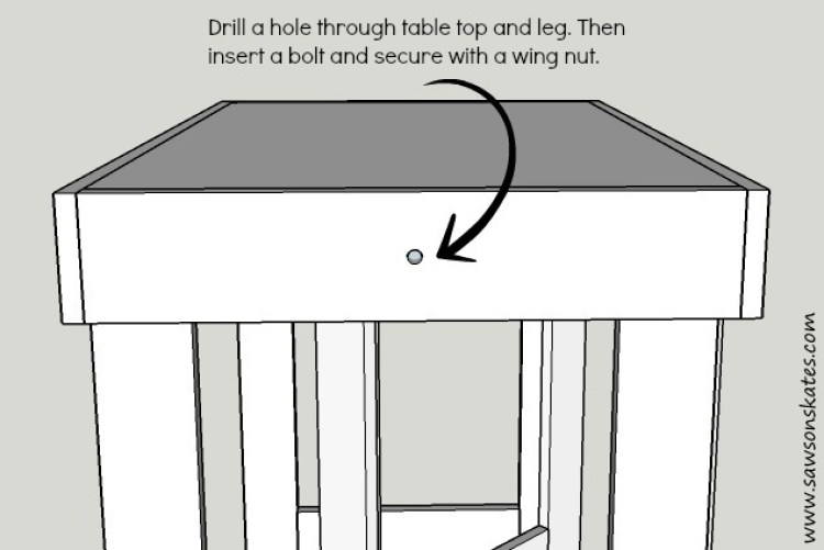 diy folding workbench text
