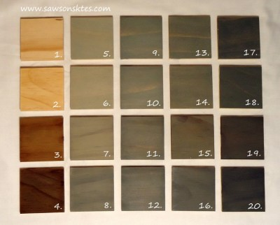 grey swatches numbered