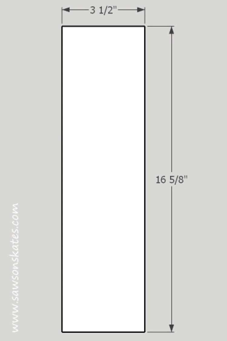 DIY Chalkboard Shadowbox center divider
