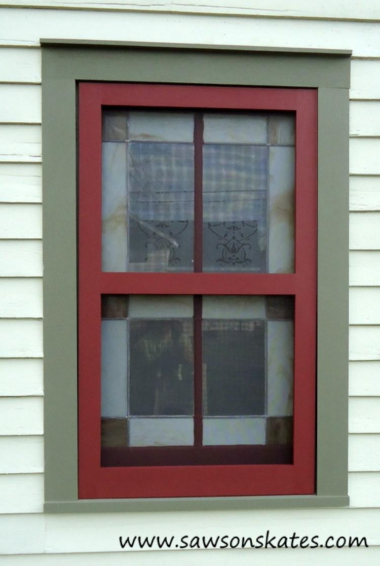 Diy wood window screen frame