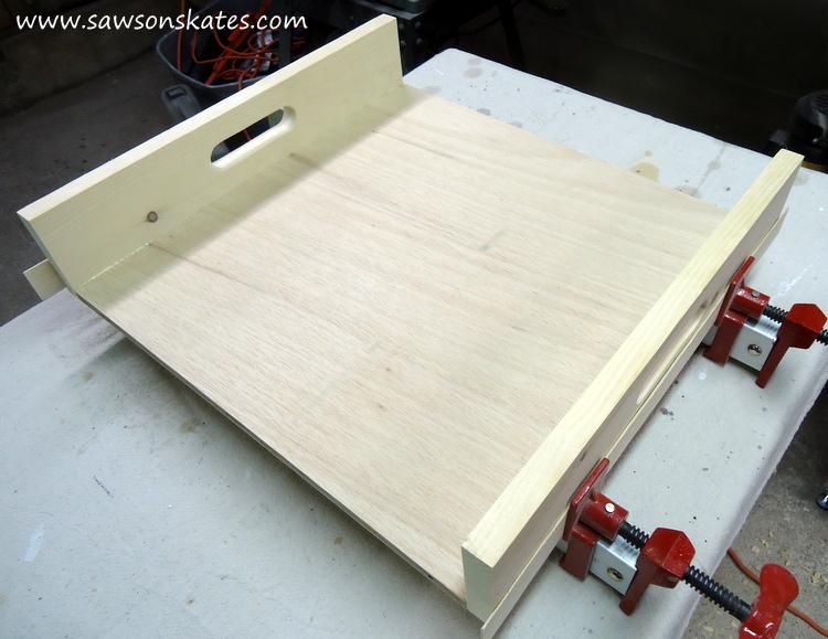 diy bar cart attach sides to bottom 1