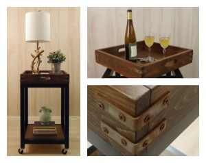 DIY Bar Cart with a Removable Tray