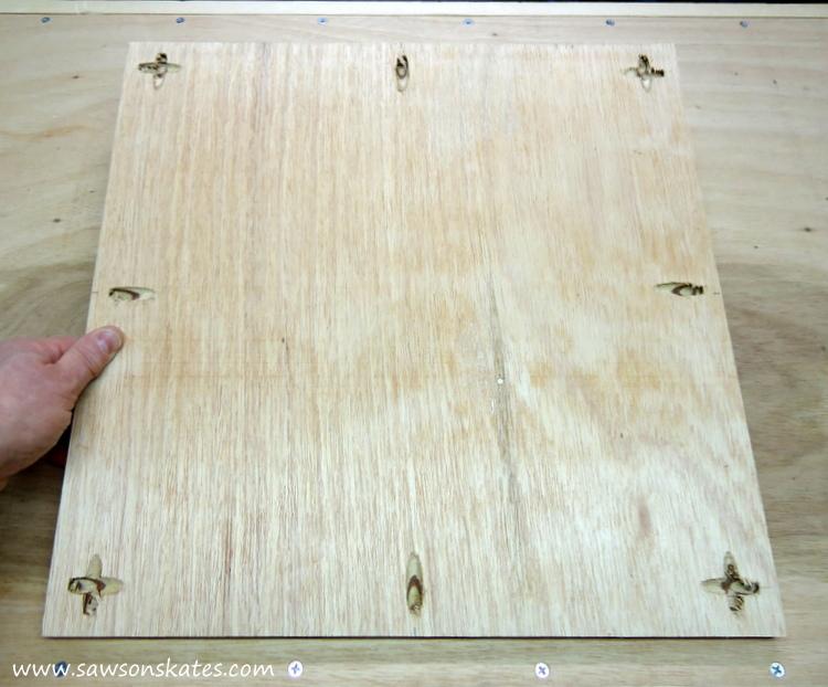 diy bar cart tray with pocket holes