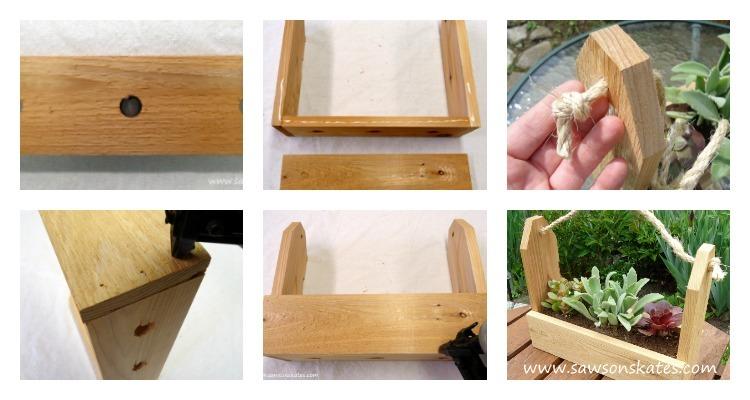 diy scrap wood gifts tool caddy planter 1