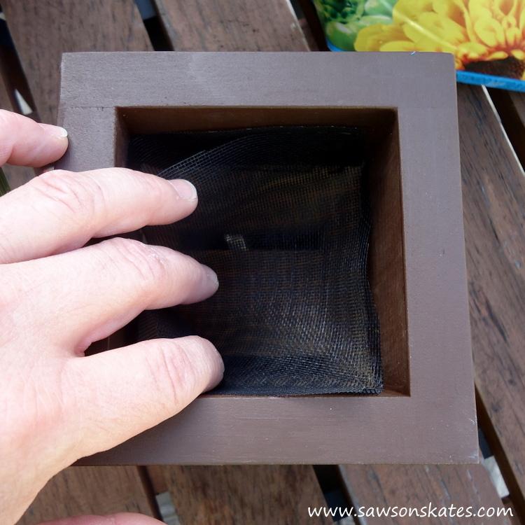 diy painted wooden tiki mask planter