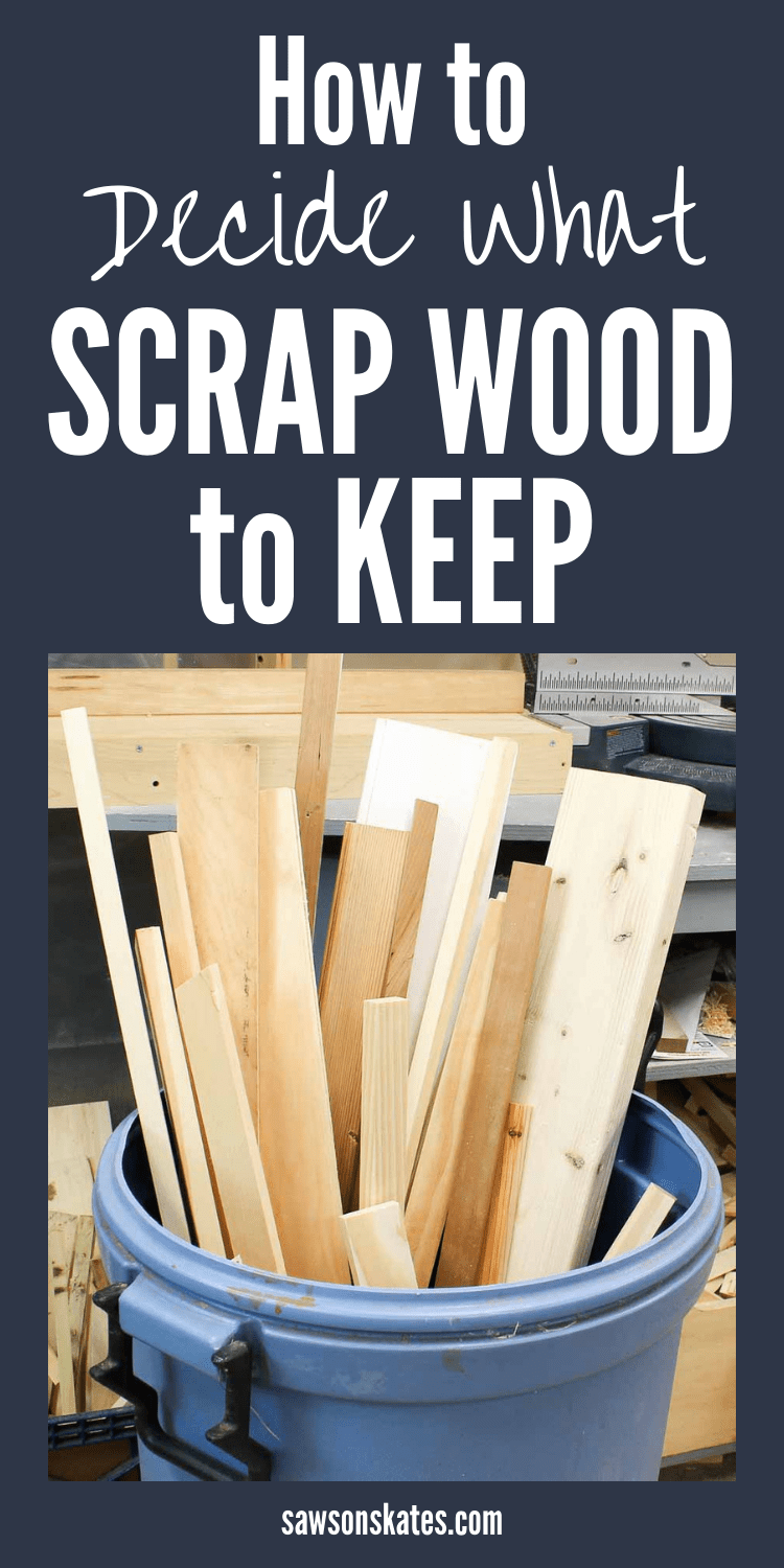 Finally, someone has some great ideas about how to deal with scrap wood! I always have cutoffs leftover from my DIY projects and I'm not sure what to with them. This post discusses what to what to keep and what to toss. There are also organization and storage tips. Plus, scrap wood crafts and decor suggestions. Now I'll always know what to do with my scrap wood! #diy #diytips #scrapwood #woodworking #woodworkingtips #woodworkingideas #diywoodworking #woodstorage
