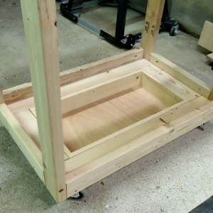 DIY Fliptop Workbench Cart Storage Tray