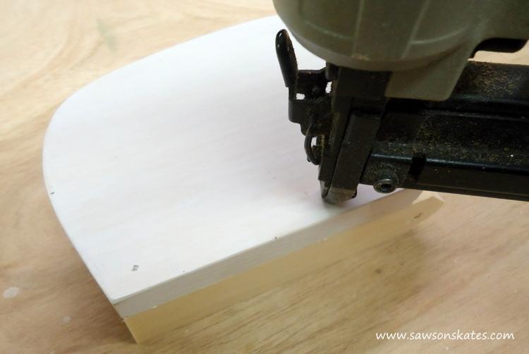 DIY Painted Wooden Vintage Camper Napkin Holder - Attach using finish nails