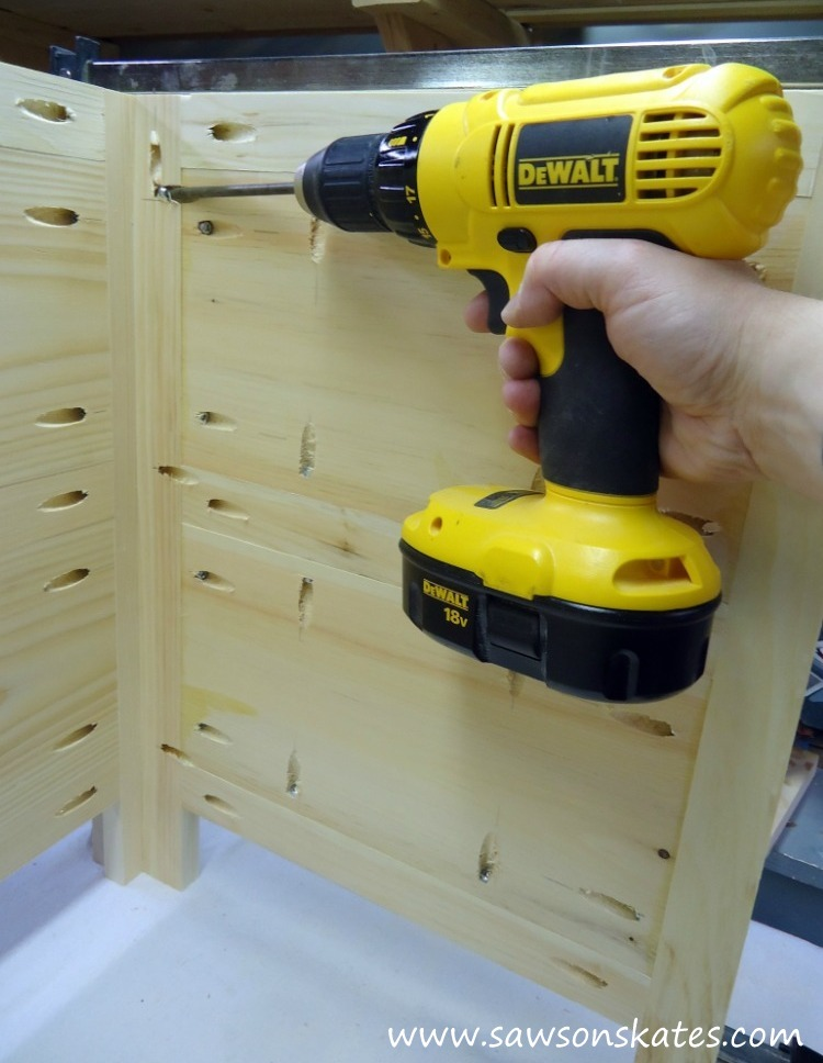 """The """"coolest"""" dresser ever! This DIY dresser hides an air conditioner when not in use! Plans at www.sawsonskates.com"""