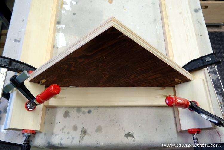 DIY Corner Cabinet - install the shelves