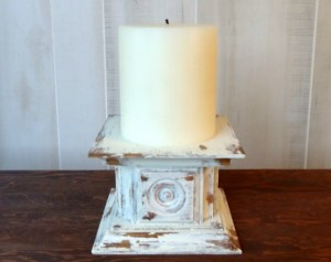 Easy Chippy Paint DIY Candle Holder