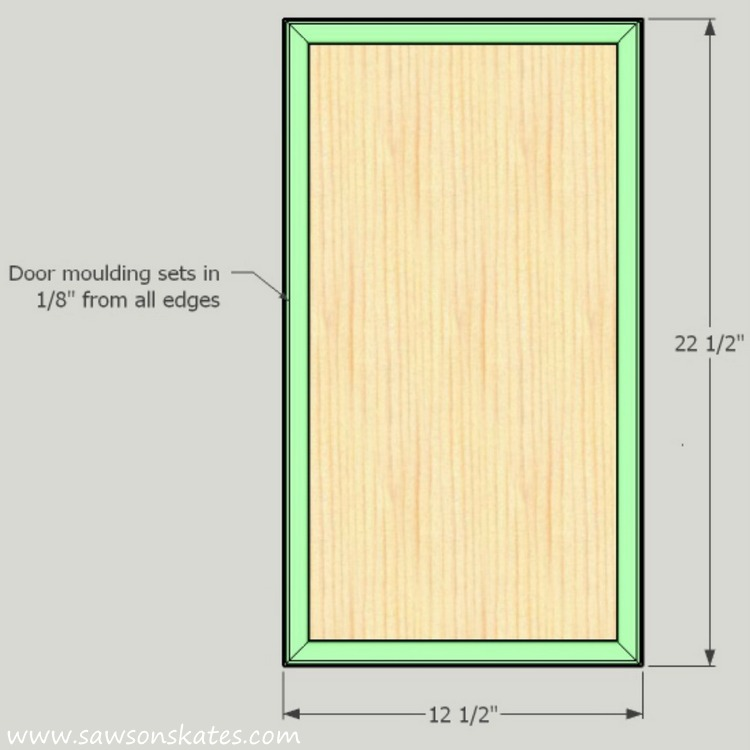 DIY Corner Cabinet - door