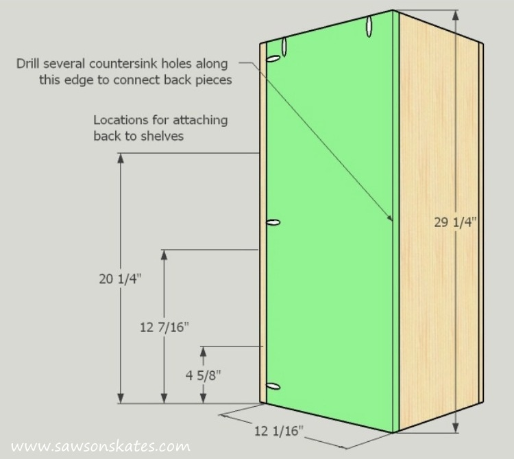DIY Corner Cabinet - install the right back