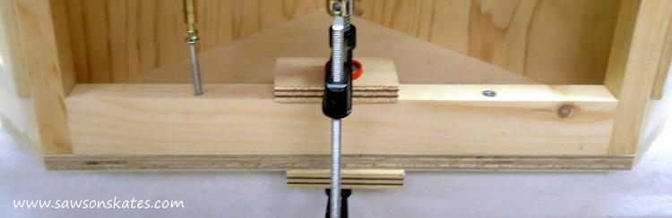 DIY Corner Cabinet - top layout 4