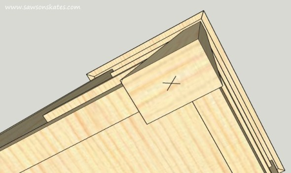 DIY Kitchen Island plans - easy to build, small space kitchen island on wheels - Caster Location