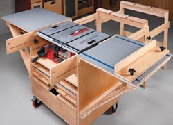 Incroyable 6 DIY Table Saw Stations For A Small Workshop   Table Saw Workstation By  ShopNotes