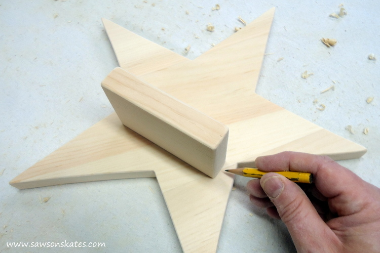 DIY Rustic Wood Star Sconce - trace candle holder