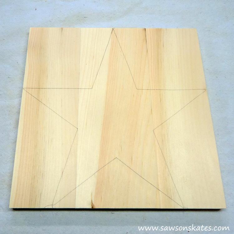 DIY Rustic Wood Star Sconce - blank