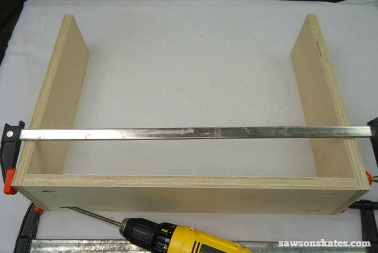 DIY Mid-Century Modern Nightstand - drawer box 2