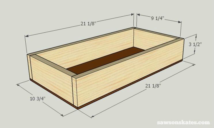DIY Wine Credenza - Wine Cabinet - drawer box