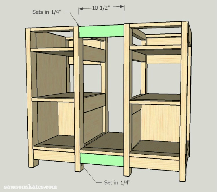 DIY Wine Credenza - Wine Cabinet - middle assembly 2