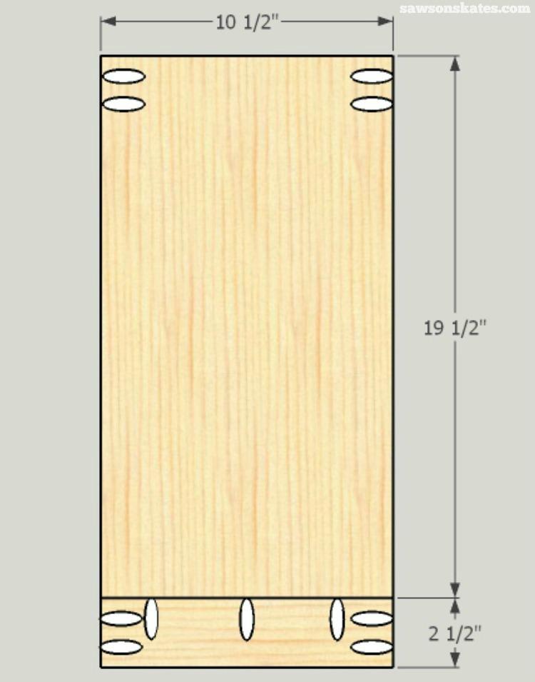 DIY Wine Credenza - Wine Cabinet - middle shelf assembly