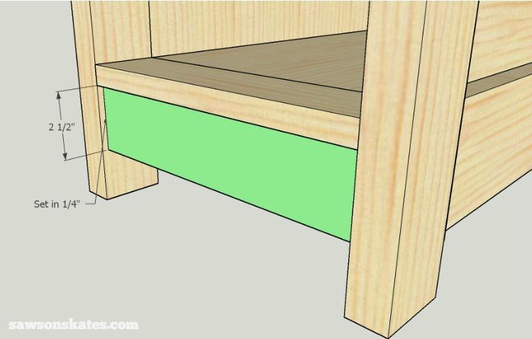 DIY Wine Credenza - Wine Cabinet - side cabinet assembly 3