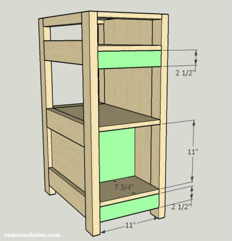 DIY Wine Credenza - Wine Cabinet - side cabinet assembly 4