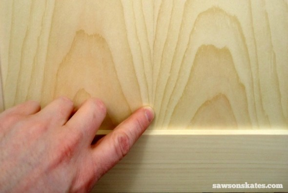Why I Only Use THIS Wood Glue for my DIY Furniture - Book-Matched Panel before stain