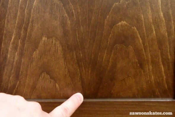 Why I Only Use THIS Wood Glue for my DIY Furniture - Book-Matched Panel stained