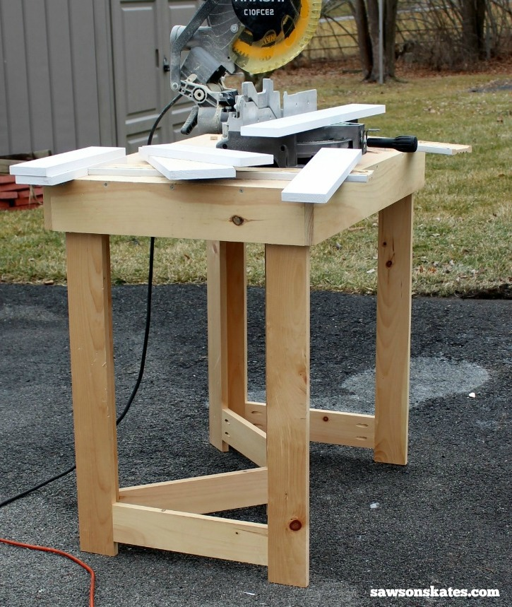 This DIY folding workbench is great for DIYers without a dedicated workshop