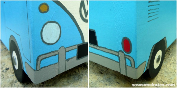 This simple trick will make you look like a freehand painting pro - Flower Power Bus Planters