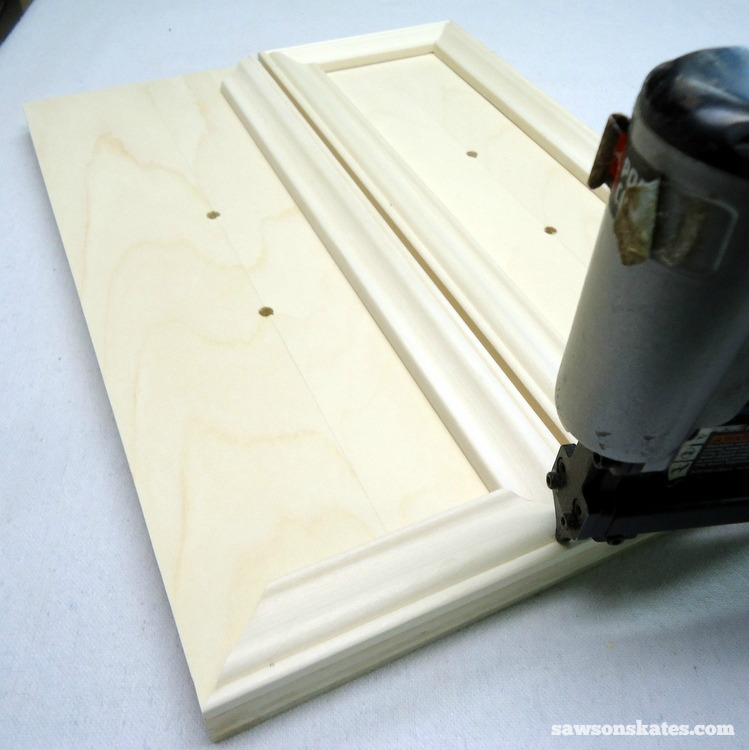Small DIY Bathroom vanity plans - wrap the drawer fronts with moulding