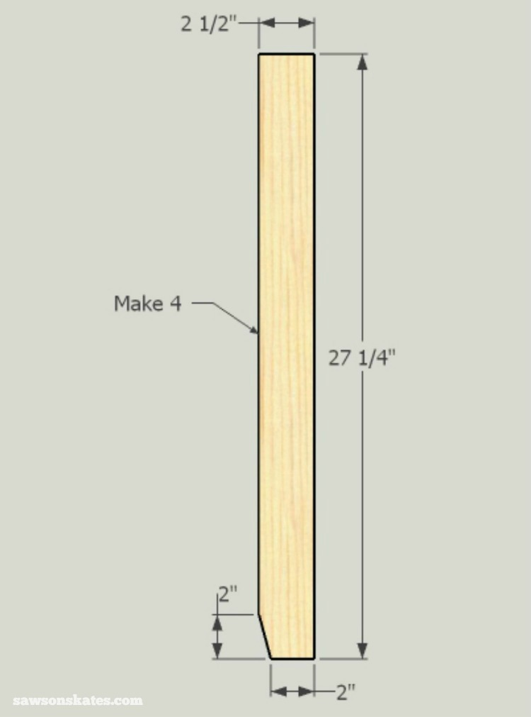 Small DIY Bathroom vanity plans - legs