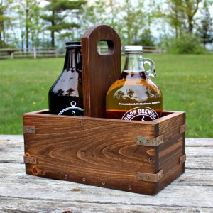 DIY Vintage Industrial Craft Beer Growler Carrier