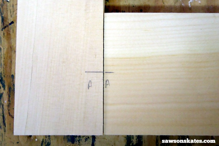 Looking for screen door ideas? Build your own wooden DIY screen door with these plans - transfer the marks and label