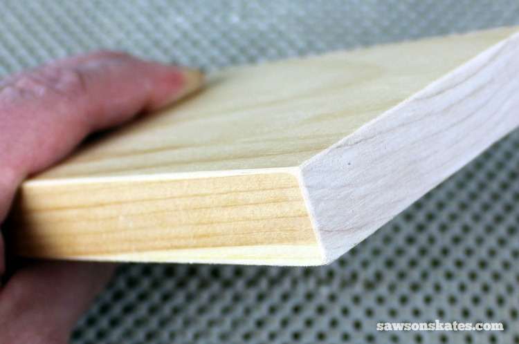 3 Tips Why You Should NEVER Use a Palm Sander - removing sharp edges makes DIY furniture look finished and professional