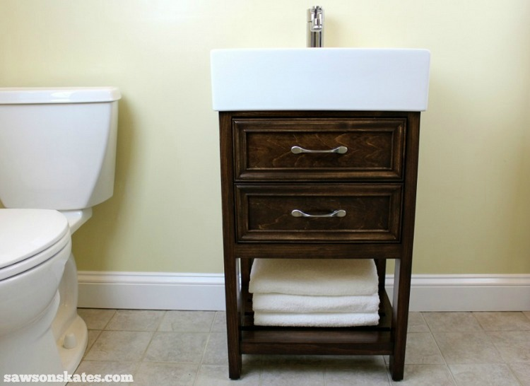 Check Out The Plans For This Small DIY Vanity. It Features Book Matched  Panels