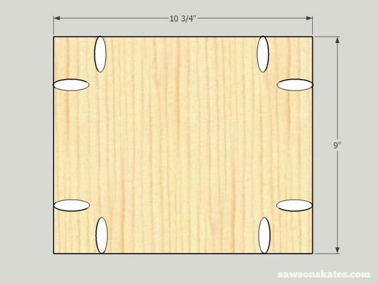 Small DIY Bathroom vanity plans - side panels