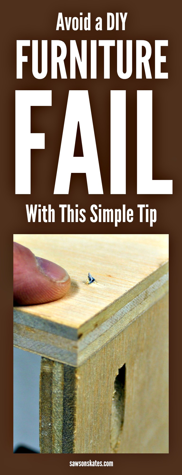 We've all had a DIY furniture fail. We've accidentally driven a pocket screw through the edge of a board or ripped a piece too narrow on our table saw. These mistakes are a waste of time, a waste of money and cause us major frustration. The other thing is these mistakes aren't accidents at all. Most of these mistakes can be avoided. In this post I'm sharing a simple tip to help you avoid furniture fails.
