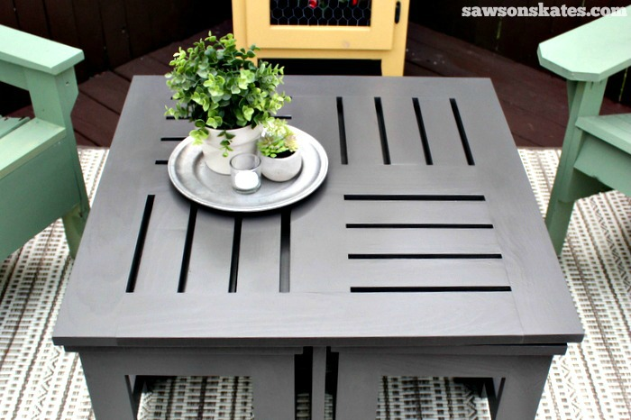 Merveilleux Easy DIY Outdoor Coffee Table Plan With 4 Hidden Side Tables   Features A  Unique Top