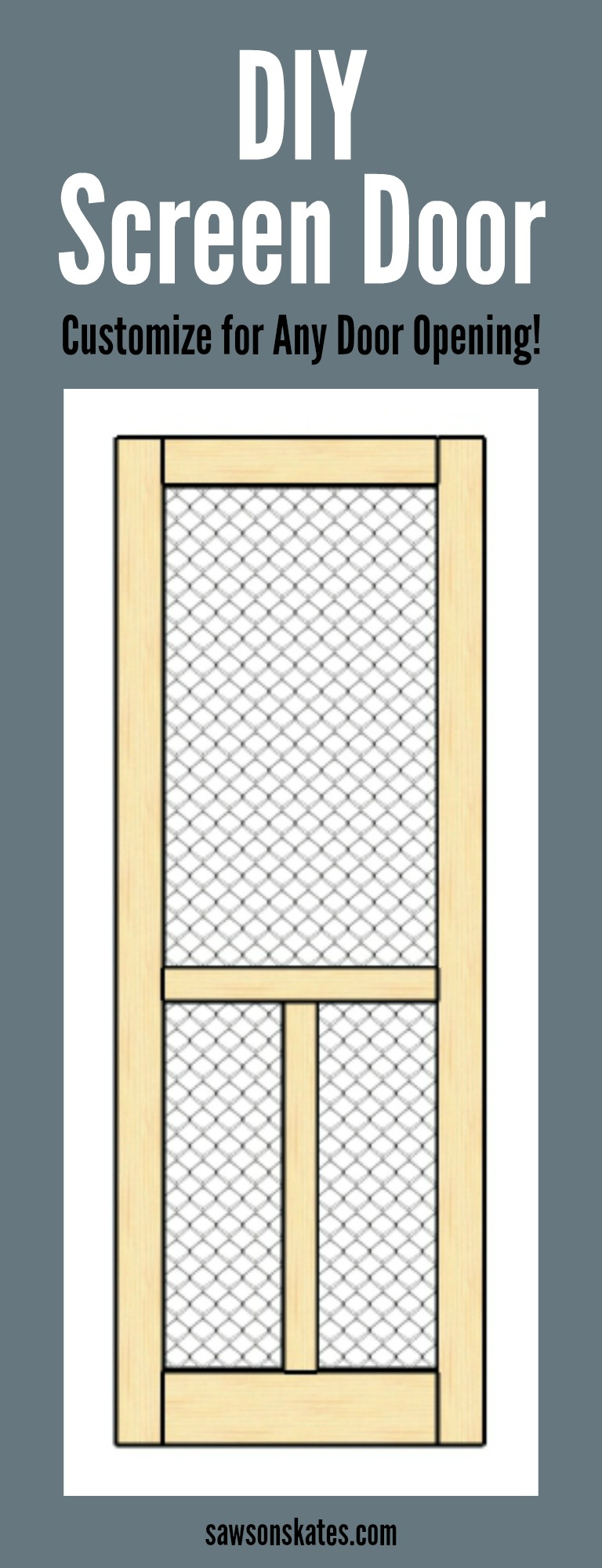 Looking for screen door ideas? DIY your own! This easy to follow plan shows  sc 1 st  Saws on Skates & DIY Wood Screen Door