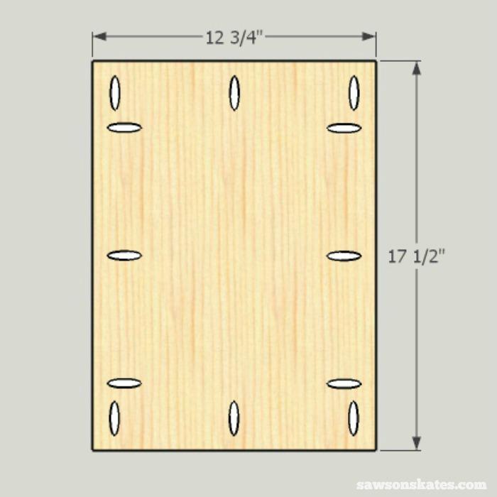 DIY Shaker Bathroom Vanity - cut the door panel