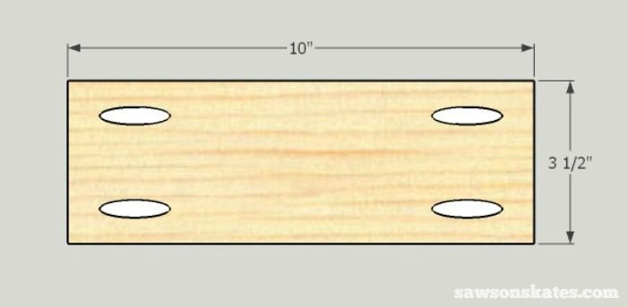 DIY Shaker Bathroom Vanity - side bottom rail