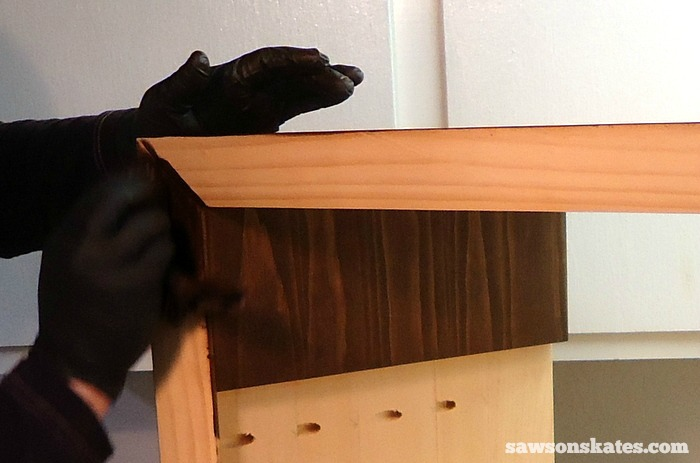 Sand, Stain, and Polyurethane the Retro Nightstand