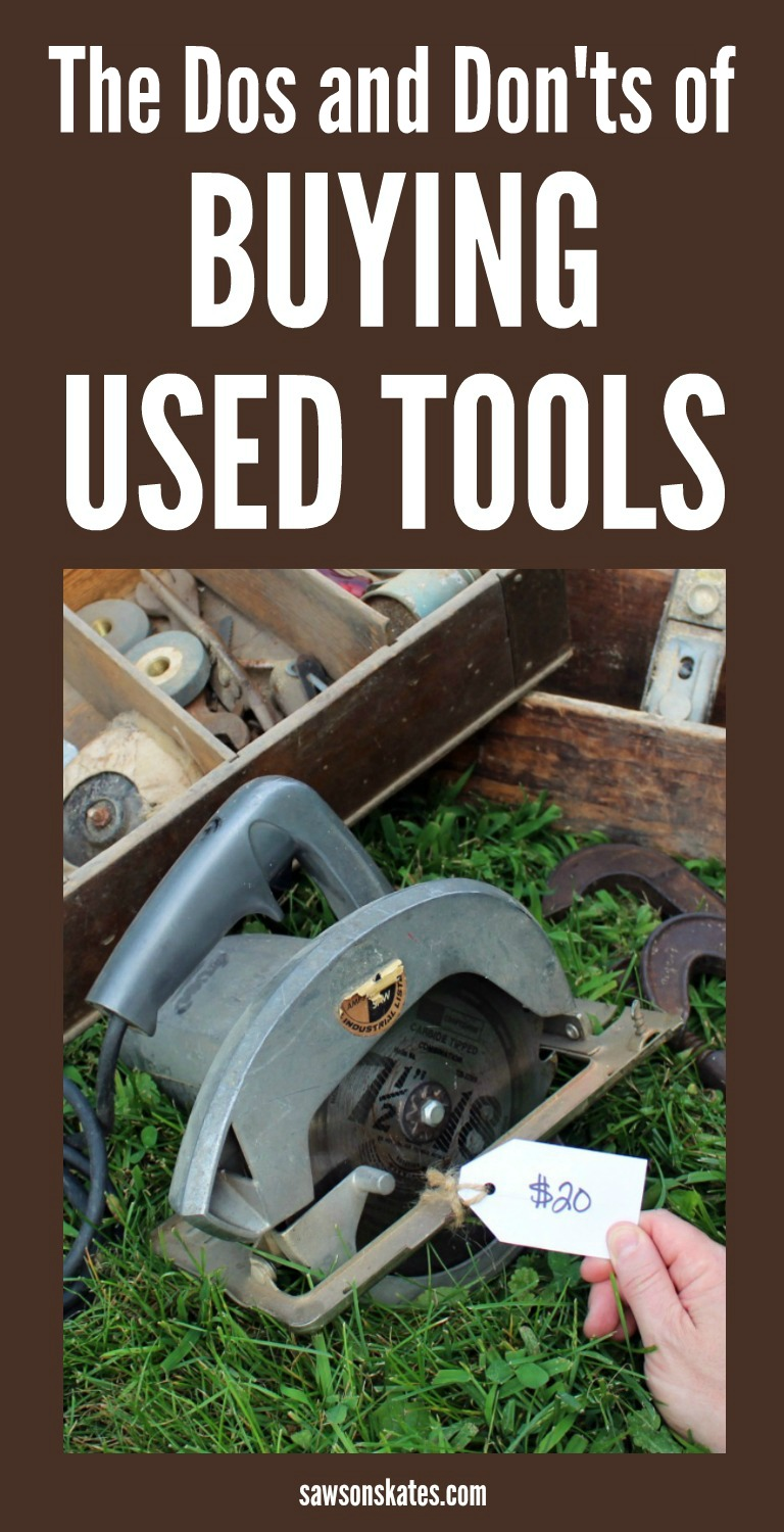 What a great idea!!! I'm always looking for ideas to save money on my DIY projects! Many times I don't have the tools needed to build my DIY furniture and assembling a tool collection can be expensive. Buying used tools is a great way to build your tool collection without busting your budget!